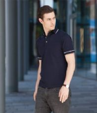 H152 Henbury Contrast Single Tipped Cotton Pique Polo Shirt